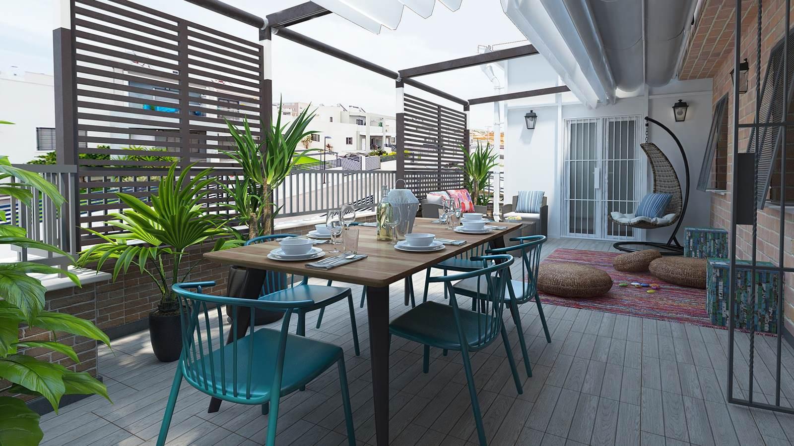 Diseño 3D Terraza Estilo moderno