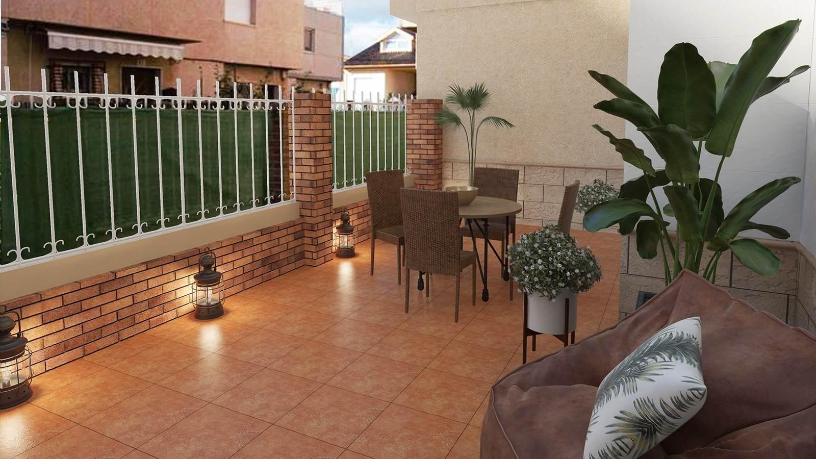 Diseño 3D Terraza Loft