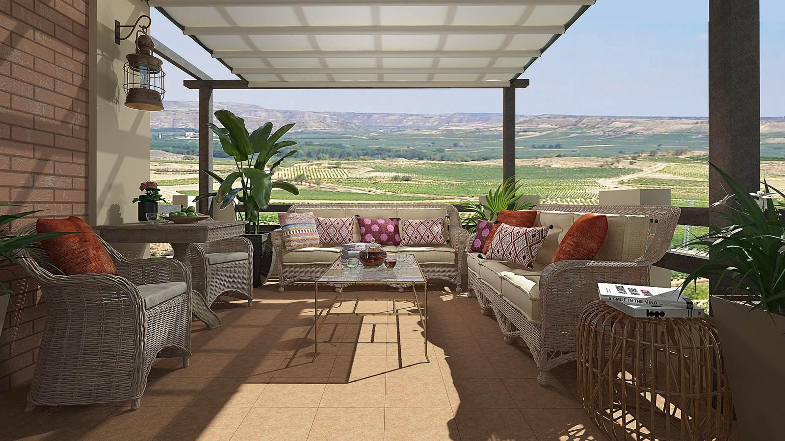 Terraza 3D estilo moderno personalizado